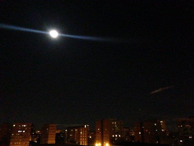 Super Luna desde el sur de Madrid (España)